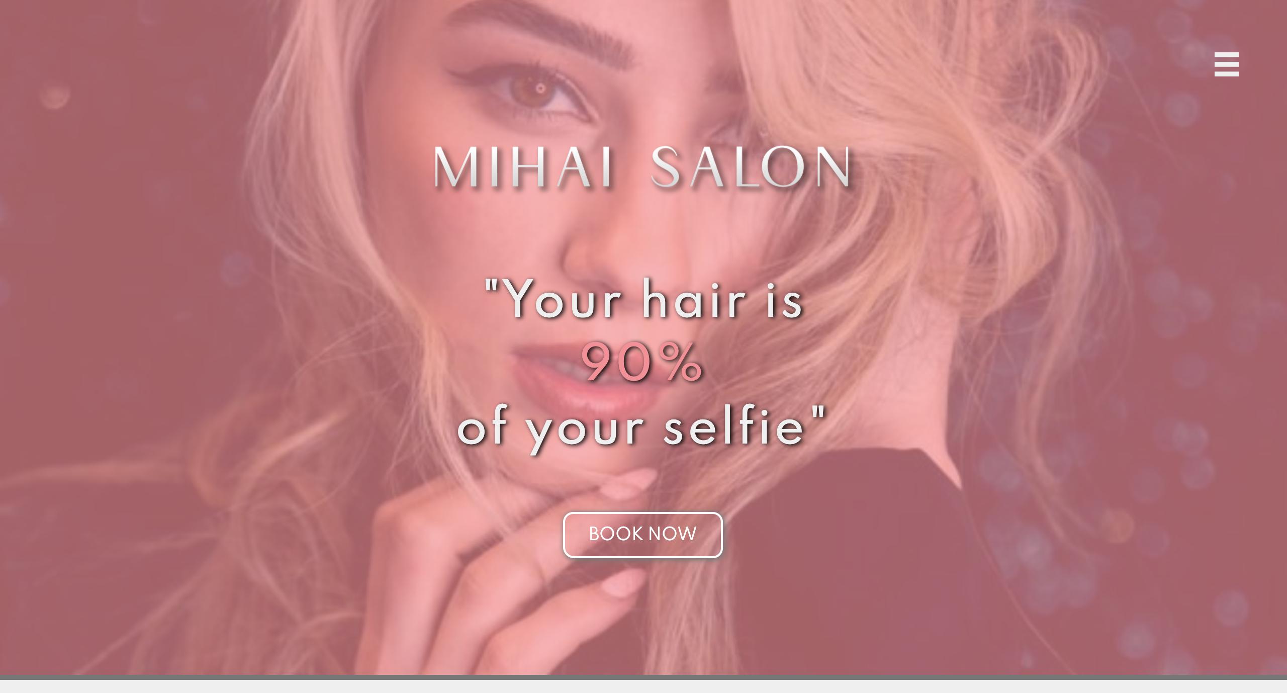 Mihai Salon Website screenshot